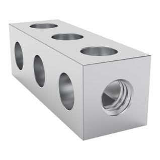 1106-0003-0024 - 1106 Series Square Beam (3 Hole, 24mm Length)