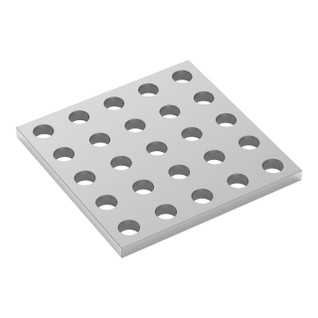 1116-0040-0040 - 1116 Series Grid Plate (5 x 5 Hole, 40 x 40mm)
