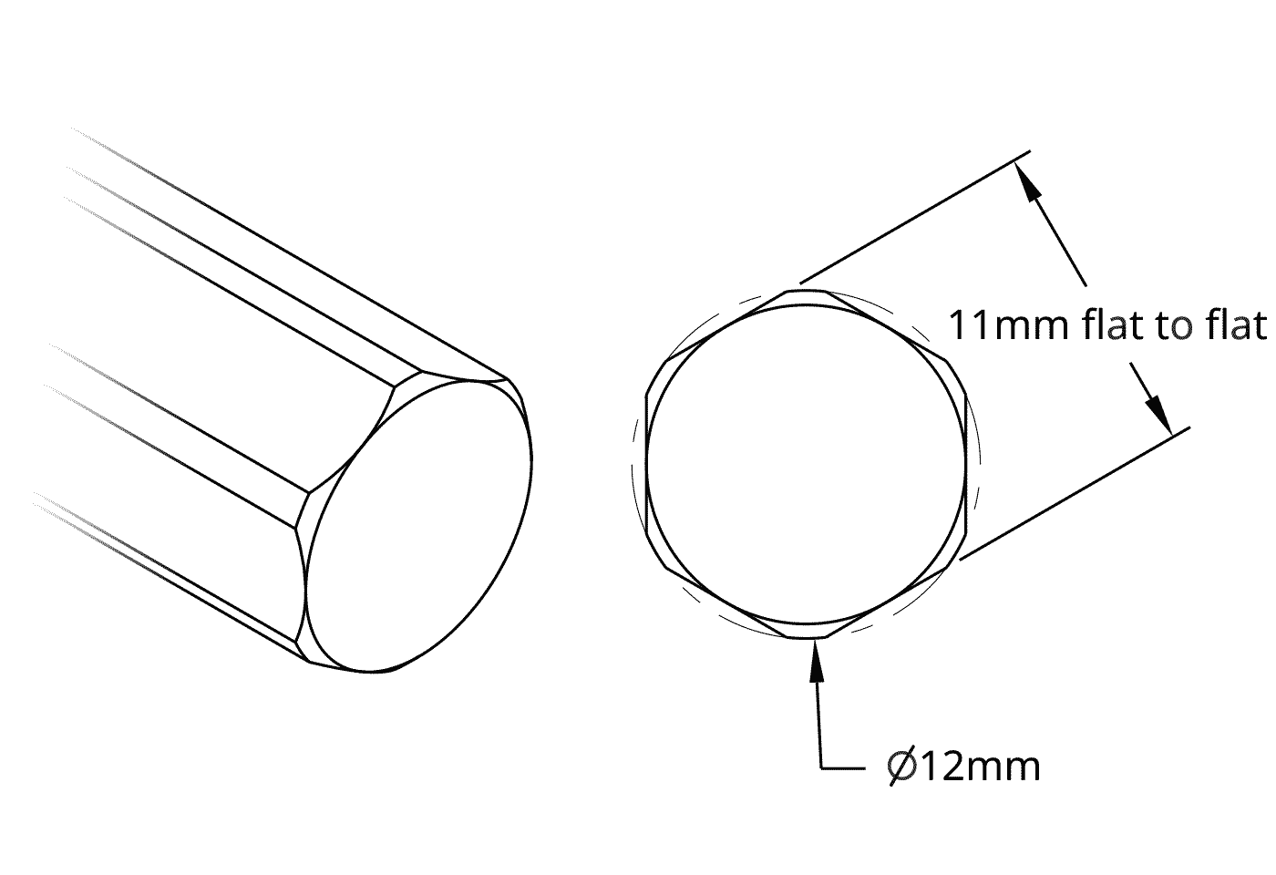 Stainless Steel REX Shafting (12mm Diameter)