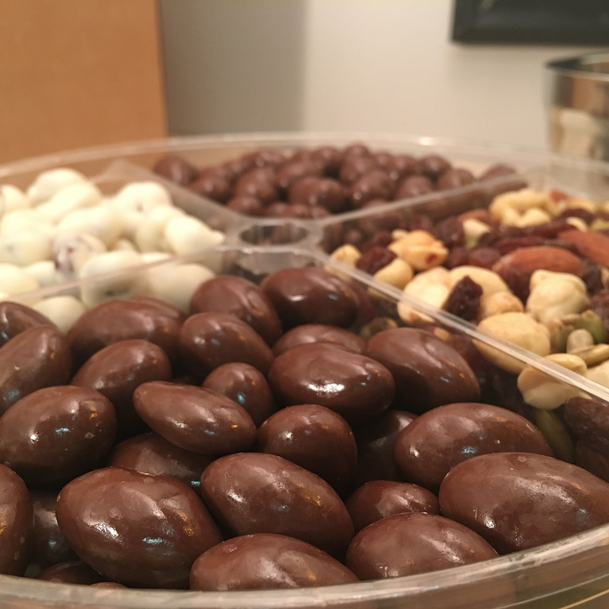 4 Compartment Candied Fruit and Nut Mix Tray