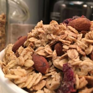Fresh bowl of granola