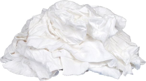 White Knit Rags - 15 kg/Bag - 4 Bags