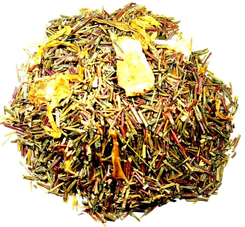 Peach flavored loose leaf tea