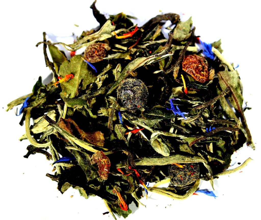 White pomegranate blueberry loose leaf tea