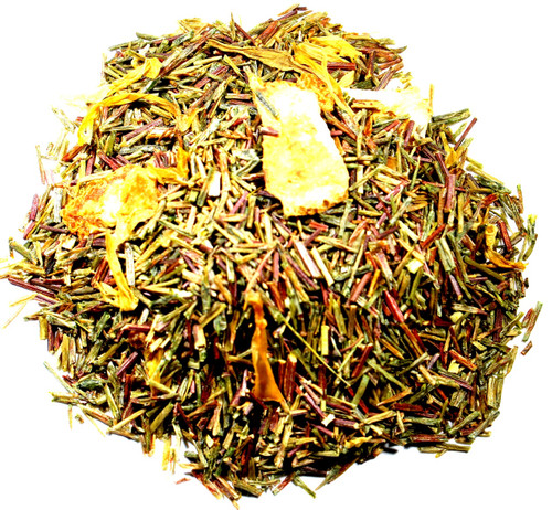 Peach flavored loose leaf tea