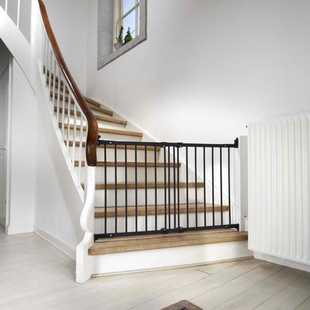 BABYDAN FLEXI FIT BLACK METAL STAIR GATE On Stairs