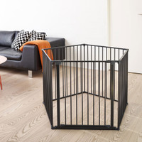 BabyDan Room Divider XXL Black 90-360cm living room playpen
