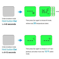 InHealth Medical Dual Mode Thermometer screen