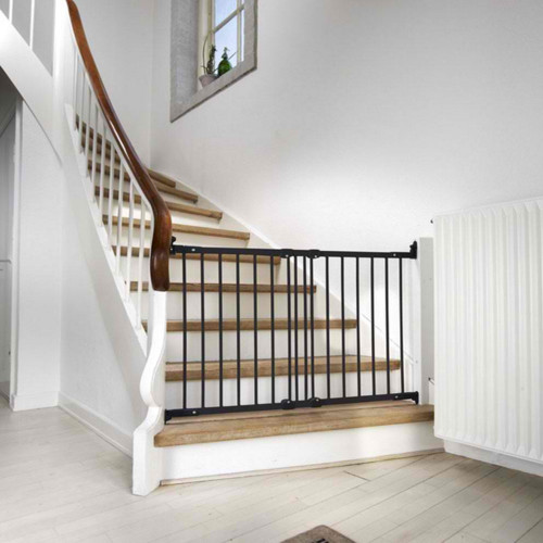 BabyDan Flexi Fit Metal Stair Gate - Black (67-105.5 cm)