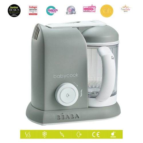 Beaba Babycook Solo - Baby Food Maker/Steam Cooker/Blender Grey