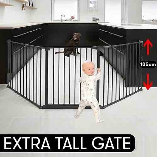BabyDan Extra Tall (105 cm) Configure/Hearth Gate - Black
