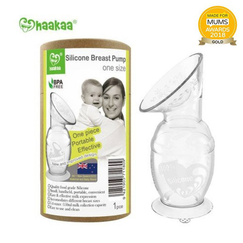 NEW Haakaa Silicone Breast Pump with Suction Base 150ml