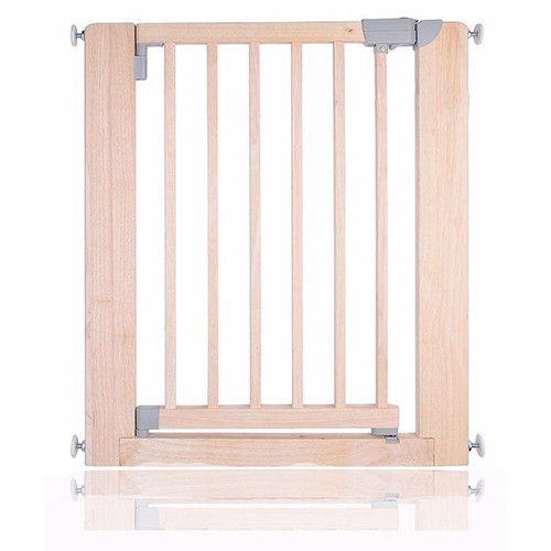 Safetots Chunky Wooden Pressure Fit Stair Gate Natural 74cm-81cm