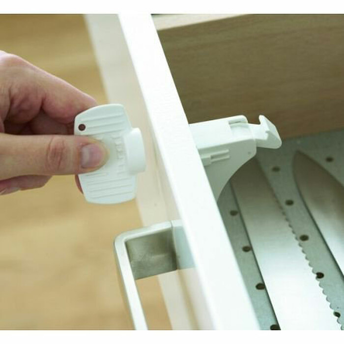 Baby Safety Adhesive Magnetic Locks on drawer