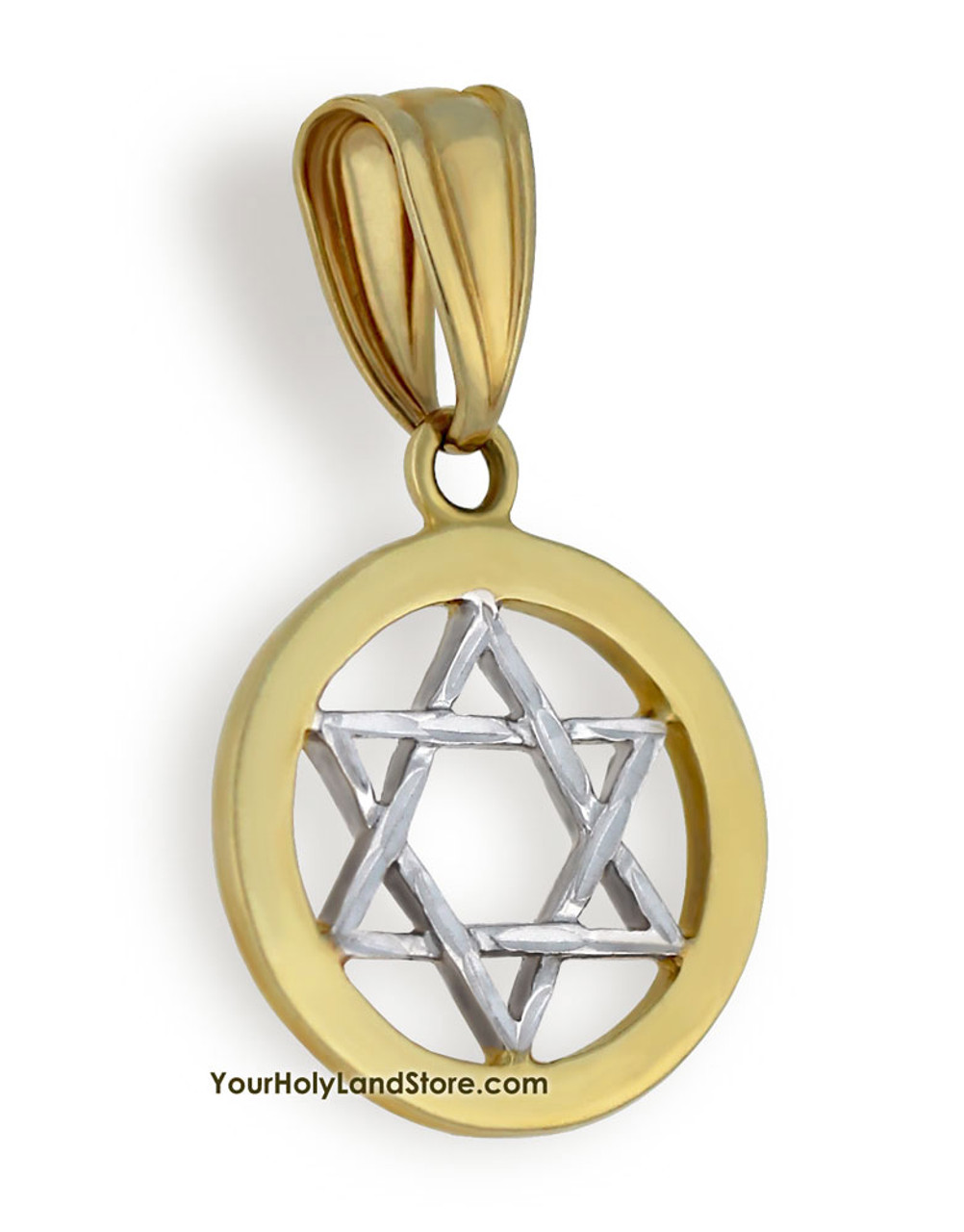 Buy 10k two tone gold star of david pendant free shipping 10k two tone gold star of david pendant aloadofball Image collections