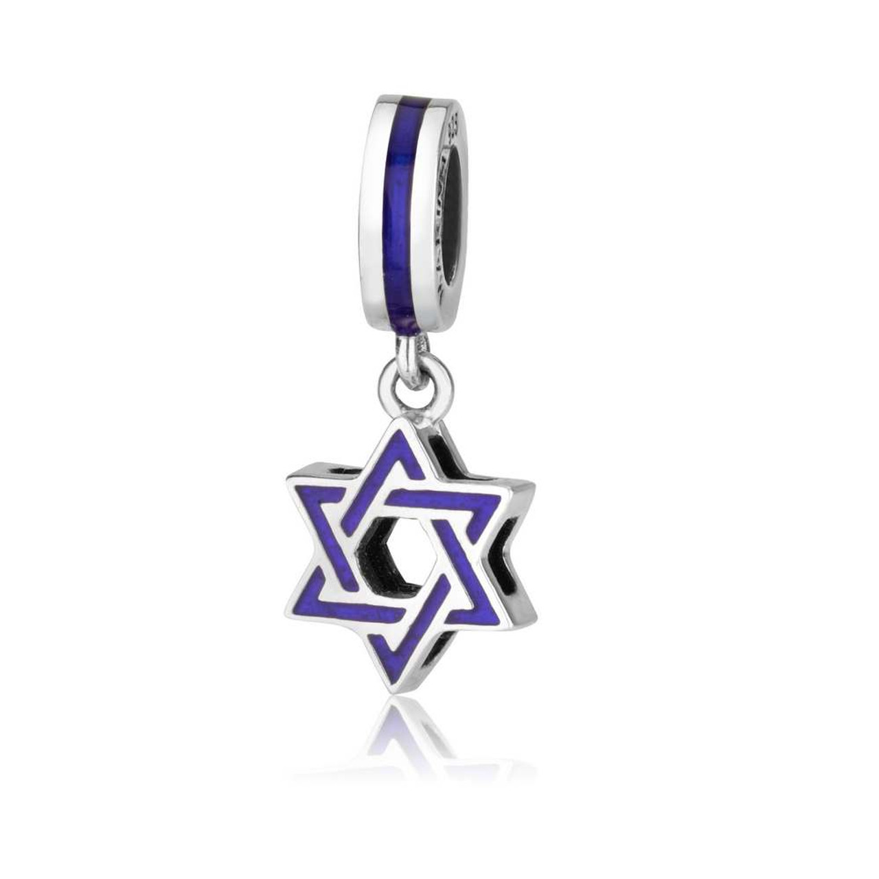 Silver star of david pendant charm yourholylandstore star of david pendant charm aloadofball Choice Image