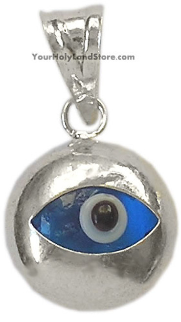 Sterling silver evil eye protection pendant aloadofball Image collections