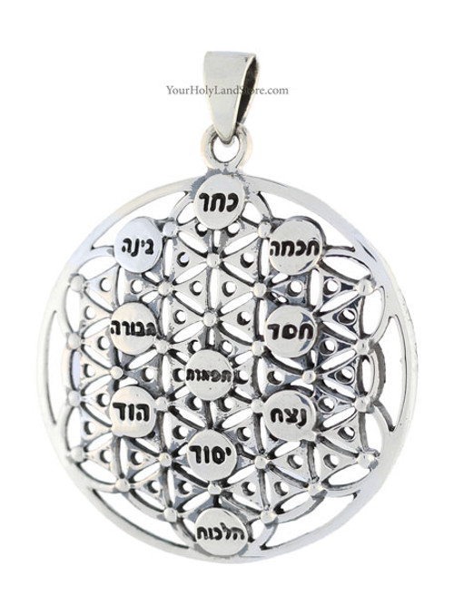 Kabbalah flower of life tree of life pendant aloadofball Images