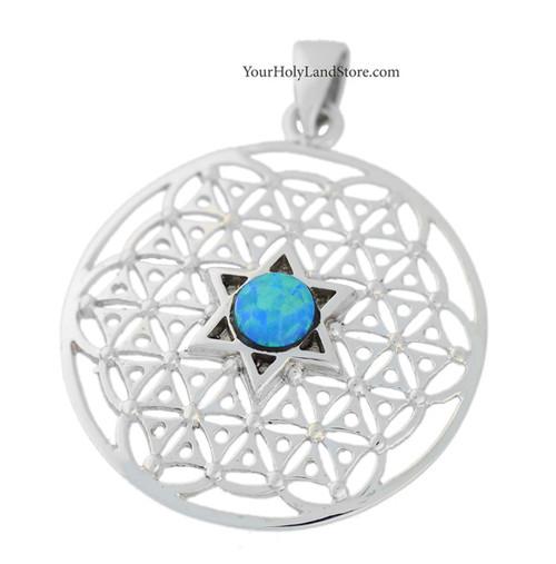 Kabbalah flower of life pendant with star of david aloadofball Images