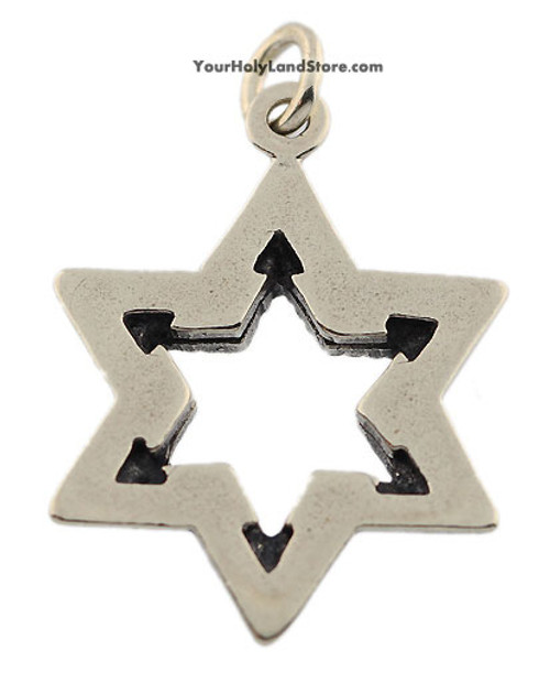 Silver star of david pendant yourholylandstore silver star of david pendant back aloadofball Image collections