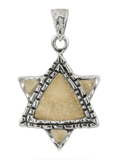 Jerusalem stone and silver star of david pendant yourholylandstore jerusalem stone and silver star of david pendant aloadofball Choice Image
