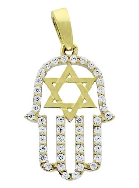 Solid yellow gold hamsa hand with star of david pendant solid yellow gold hamsa hand with star of david pendant aloadofball Choice Image