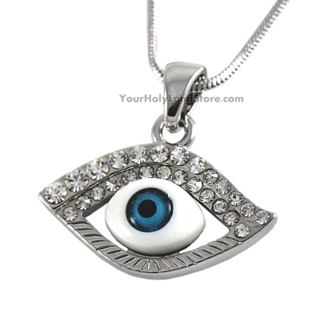 Evil eye protection necklace with stones aloadofball Image collections
