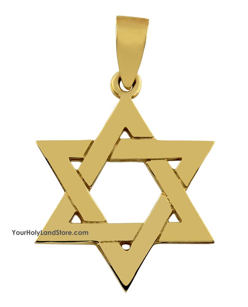 14k yellow gold traditional star of david pendant aloadofball Image collections