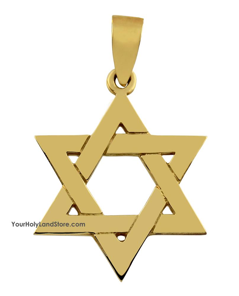 14k yellow gold traditional star of david pendant aloadofball Images