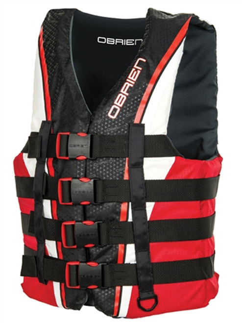 OBRIEN 4 BUCKLE PRO NYLON VEST RED