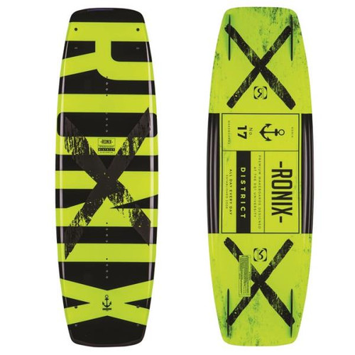RONIX DISTRICT YELLOW BLACK WAKEBOARD BLANK (2017)