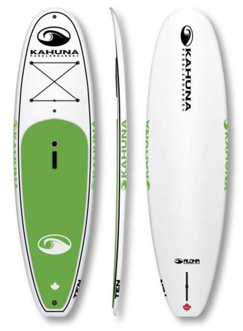 KAHUNA ALOHA TEN SUP PKG W/PADDLE, BAG AND LEASH (2017)