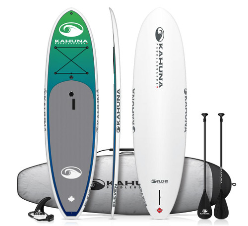 KAHUNA ALOHA ELEVEN SUP PKG W/PADDLE, BAG AND LEASH (2018)