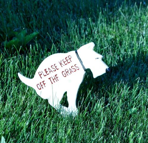Keep off the Grass -Cast iron yard sign
