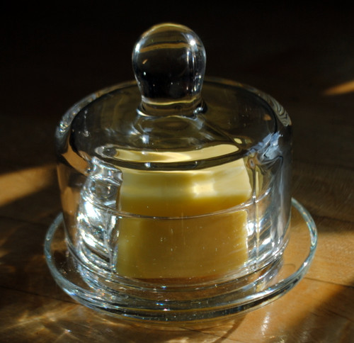 Glass Domed Butter Dish