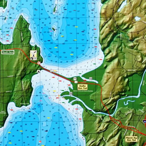 Lake Champlain Charts by Trak