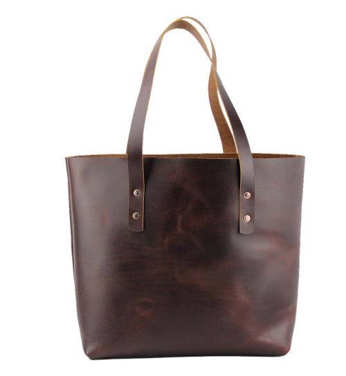 Lexington Leather Tote In Coffee Brown Color Made The U S A 15 Lex