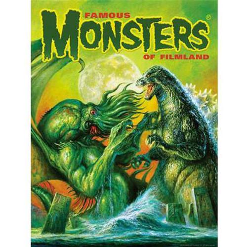 Famous Monsters Godzilla Vs Cthulhu Poster Art By Bob Eggleton