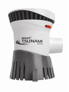 With their innovative engineering and compact design, Tsunami pumps deliver high output from a small package. We use the advanced material available, including the best quality bearings and state-of-the-art brushes, alloys and magnets. Our patented shaft seal prevents leaks caused by misalignment and out caulked and tinned wiring eliminates wicking, prevents water damage and resists corrosion.  Boaters, boat-builders, and dealers all want one thing from their bilge pumps — more power! And that's what the Tsunami® Series delivers... with high-capacity, high-efficiency output Tsunami Cartridge pumps have replaceable / interchangeable motor cores. Makes servicing simple and quick.