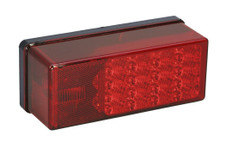 """Waterproof LED tail light meets FMVSS/CMVSS 108 requirements for trailers over 80"""" wide when properly mounted Includes 3-wire plug-in harness with 12"""" wire leads and 7"""" ring terminal ground Stainless steel mounting hardware 7-Function, Right/Curbside Dimensions: 8"""" x 2 7/8"""" x 2 3/4"""" 274-407530"""