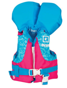 This O'Brien Infant Nylon Life Vest is designed for infants 9kg-14kg. The vest features a front zip along with a buckle to insure that your little one will be securely fastened in. 2172482