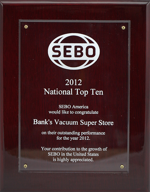 SEBO - National Top Ten - 2012
