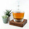Personalised LSA Whisky Decanter with Walnut Base - 1