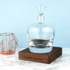 Personalised LSA Whisky Decanter with Walnut Base -2