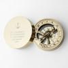 Brass Sundial Compass - Anchor