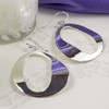 Large Silver Oval Earrings for Women