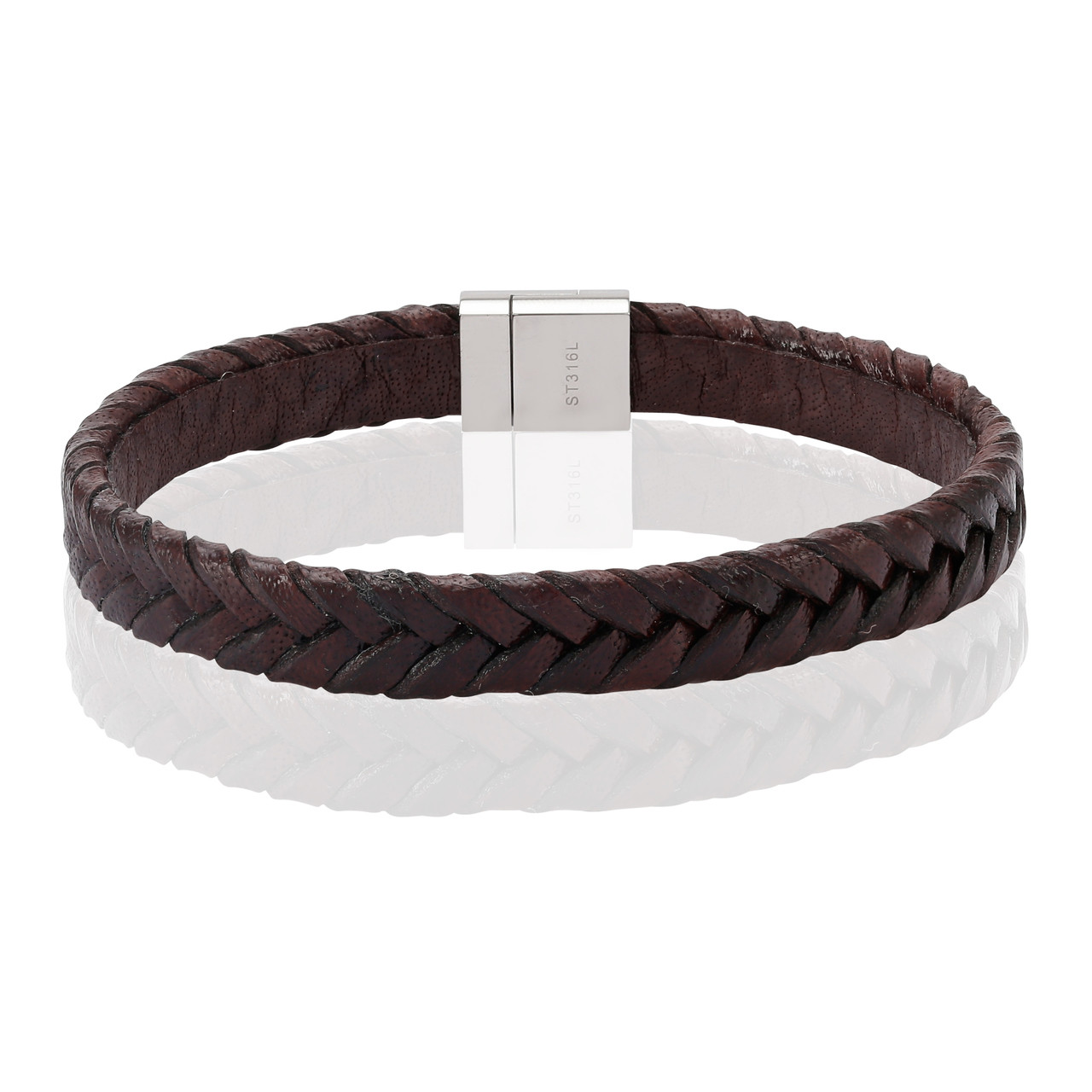 Sif Jakobs Martello Men S Brown Leather Bracelet