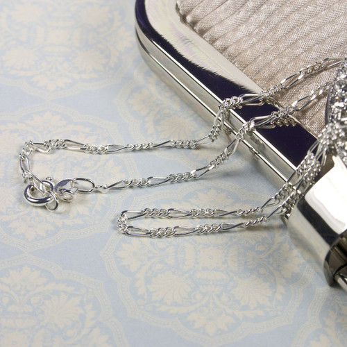 """19"""" Sterling Silver Figaro Chain"""