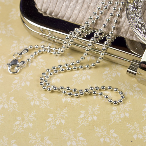 "20"" Sterling Silver Ball Chain"