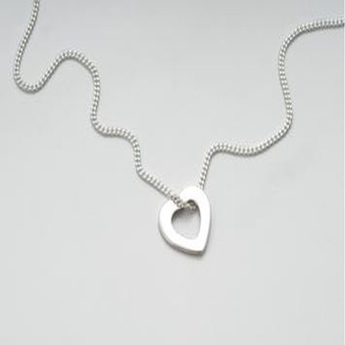 Ladies Tales From the Earth Silver Heart Necklace